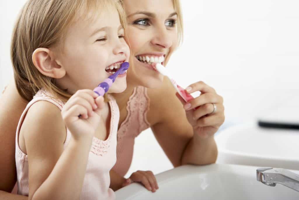child, brushing, teeth,