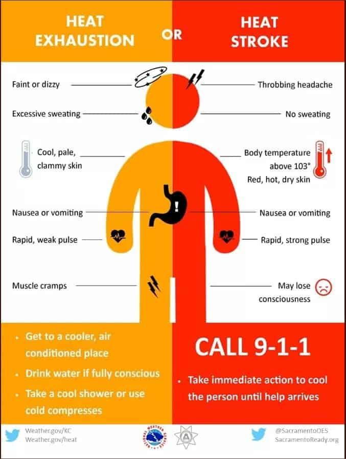 Heat, stroke, exhaustion, summer, medical