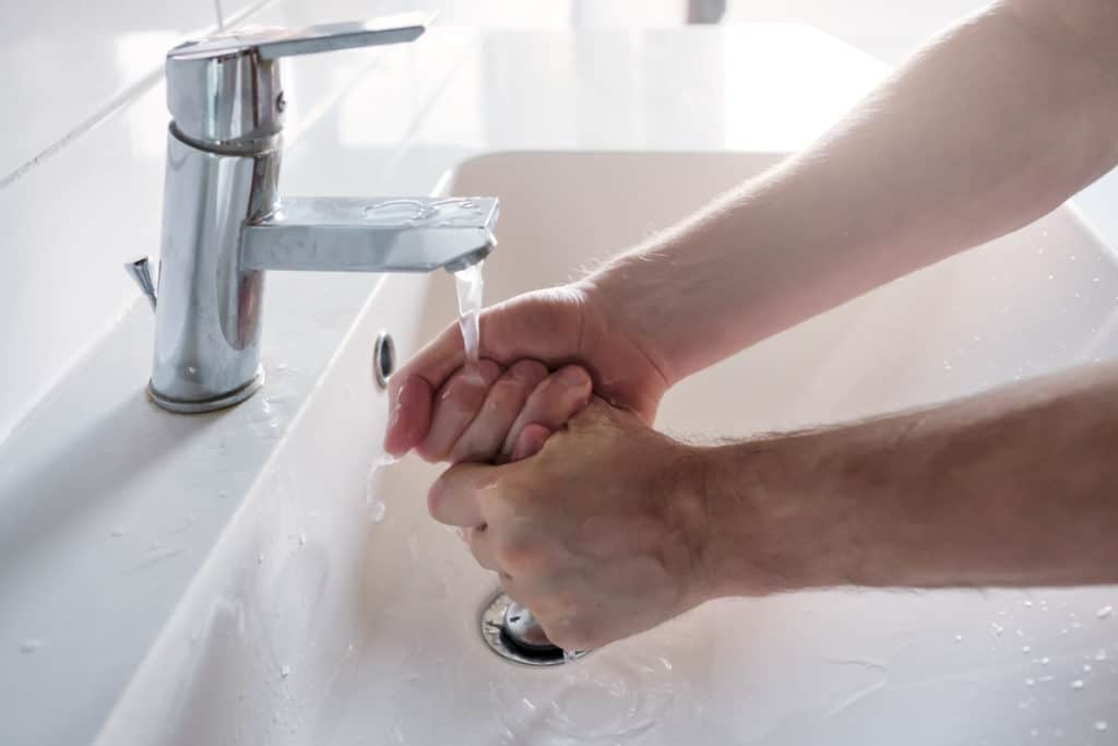 Washing Hands to defend against pathogenic diseases